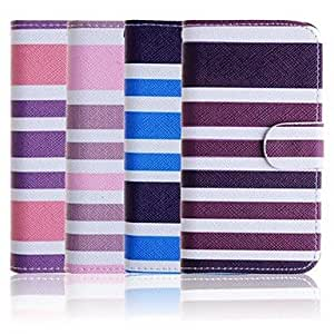PEACH- Colorful Elegant PU Leather Case for iPhone 4/4S(Assorted Colors) , Blue