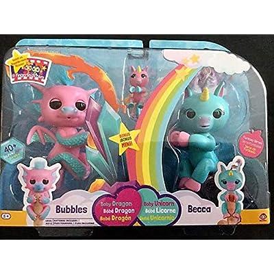 Fantasy Set Fingerlings Bubbles, Becca and Bianca Unicorns: Toys & Games