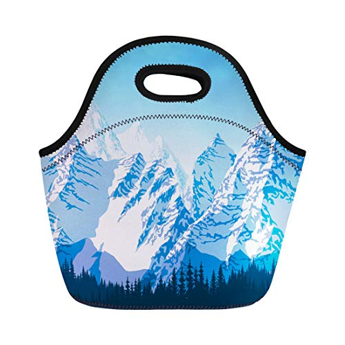 Semtomn Neoprene Lunch Tote Bag Alps Blue Beautiful, used for sale  Delivered anywhere in USA