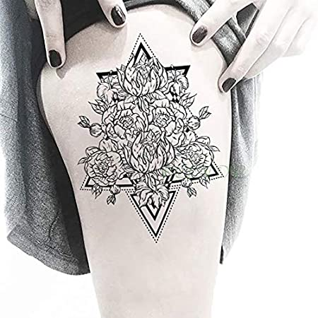 5pcs Impermeable Tatuaje del Ojo engomada de la Flor Pegatinas ...