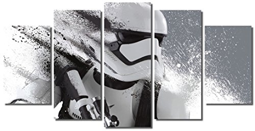 Picture Sensations Framed Canvas Art Print, Star Wars Stormtrooper The Force Awakens Wall Canvas Art - 60