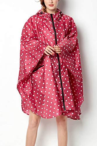 Rojo Chaqueta con Las Poncho De Exterior Mujeres Capucha Impermeable De Lluvia Capa Yacun La Impermeable w7qP6S7x