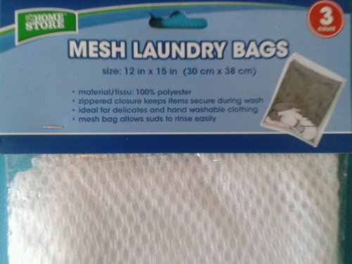 Mesh White Laundry Bags / 3 in pack