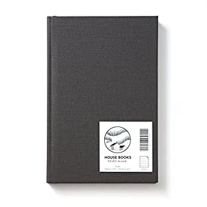 HOUSE Hardcover Journal; American Made, 30% Recycled, Ruled, 5.5 x 8.5, 136 Pages (Night Linen)
