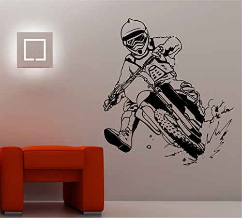 (Dirtbike Rider MX X Games Version 110 Decal Sticker Wall Motocross)