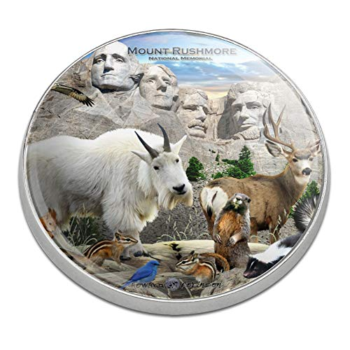 South Dakota Golf Ball (GRAPHICS & MORE Mount Rushmore National Memorial South Dakota SD Animals Mountain Goat Golfing Premium Metal Golf Ball Marker)