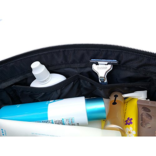 Freeprint Spacious Water-resistant Travel Toiletry Bag Dopp Kit for Men and Women, Black by Freeprint (Image #8)