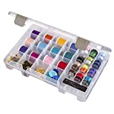 ArtBin Sew-Lutions Bobbin/Supply Box - Clear Sewing Storage Container, 6911AB