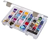 Arts & Crafts : ArtBin Sew-Lutions Bobbin/Supply Box - Clear Sewing Storage Container, 6911AB