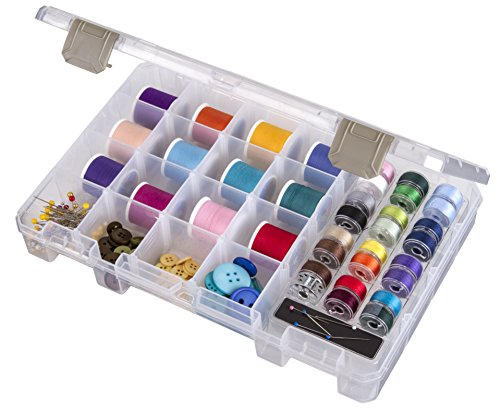 ArtBin Sew-Lutions Bobbin/Supply Box - Clear Sewing Storage Container, 6911AB by ArtBin