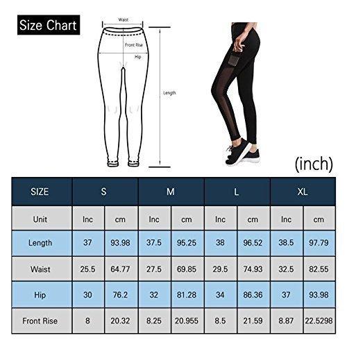 84549f917aa86 IMIDO Women's Yoga Mesh Capri Pants Sport Tights Workout Running Leggings  with Side Pocket (XL, Black Long Pants) < Clothing < Sports & Outdoors -  tibs