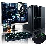 """Vibox Legend Pacchetto 22 Gaming PC con Gioco War Thunder, 27"""" HD Monitor, 4.4GHz Intel i7 Quad Core Processore, 2x nVidia GeForce GTX 980 Ti SLI Scheda Grafica, 240GB SSD, 2TB HDD, 32GB RAM, Nero"""