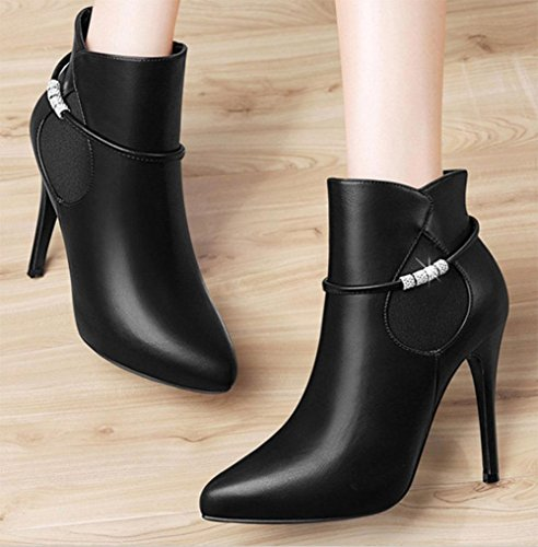 KUKI impermeables mujeres botas zapatos tacón alto de baratas las de botas black las botas de con botas otoño mujeres y invierno 7xPzH0q7rw