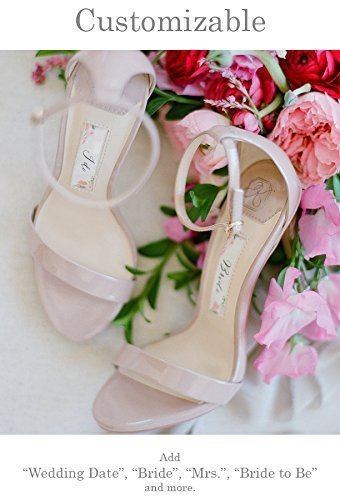 "Wedding Shoes -""Patent-Pending"" personalization - Nude wedding sandal - Style Samantha by Kate Whitcomb Shoes"
