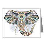 Note Cards (20 Pack) Patterned Elephant