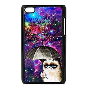LeonardCustom Cute Grumpy Cat Hard Snap On Cover Case for iPod Touch 4 (4th Generation)