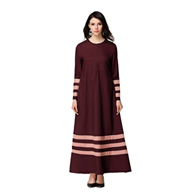 Amazon Weixinbuy Women Muslim Abaya Islamic Clothing Long