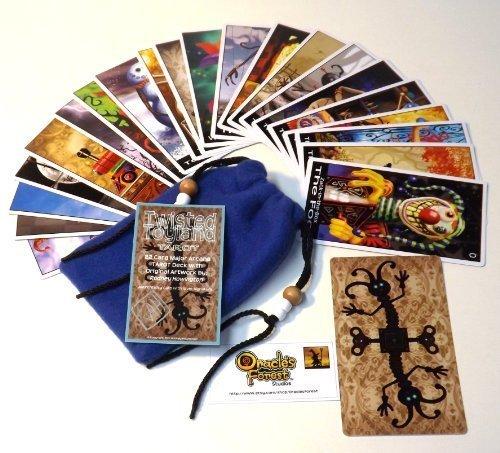 Twisted Toyland Tarot Cards - 22 Card Major Arcana Deck (With Handmade Tarot bag) by Oracles Forest Studios (Image #5)