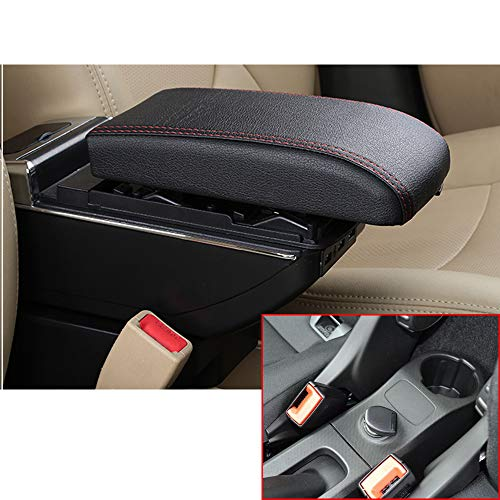 2010 Black Usb - 8X-SPEED for Smart Fortwo Forfour 2009-2018 High-end Car Armrest Center Console Accessories Arm Rest Charging Function with 7 USB Ports Built-in LED Light Black