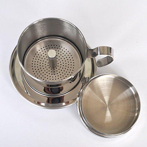 Cafetera vietnamita portátil de acero inoxidable con filtro ...
