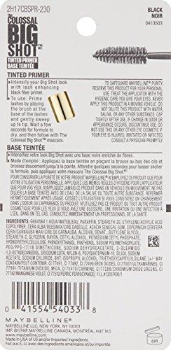 31JjA2or6kL Maybelline New York Volume Express The Colossal Big Shot Tinted Primer, Black, 0.26 Fluid Ounce