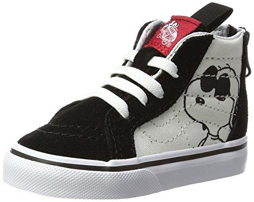 Vans Toddlers Sk8-Hi Zip (Peanuts) Joe Cool/Black Skate Shoe 6 Infants - Vans 6 Toddler