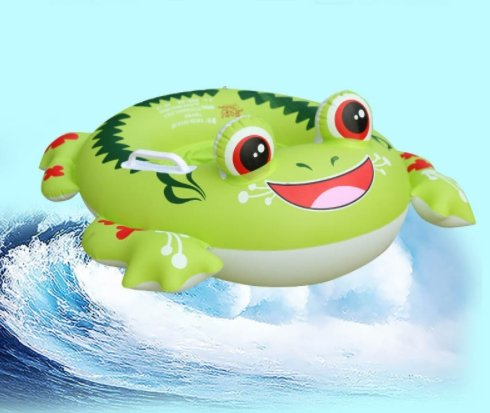 [thitiwat Infant Toddler Baby Swimming Float Ring Inflatable Kids Safety Aid Float Seat Swim Ring Baby Swimming Pool Accessories(frog)] (Frog Swimming Costume)