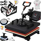 VEVOR Heat Press 12 X 15 Inch Heat Press Machine 5 in 1 Digital Multifunctional Sublimation Swing Away Heat Press Machine for T Shirts Hat Mug Cap Plate(Gift T-Shirts and Stickers)