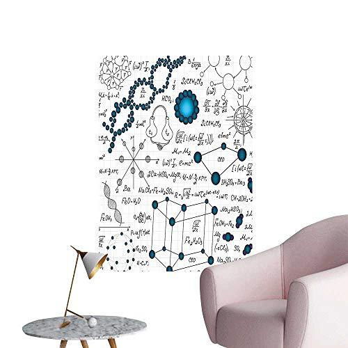 Vinyl Artwork Physics DNA Molecule Formulas Atomic Chemical