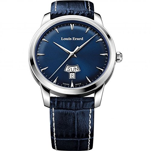 Louis Erard Heritage Collection Swiss Quartz Blue Dial Men's Watch 15920AA05.BEP102