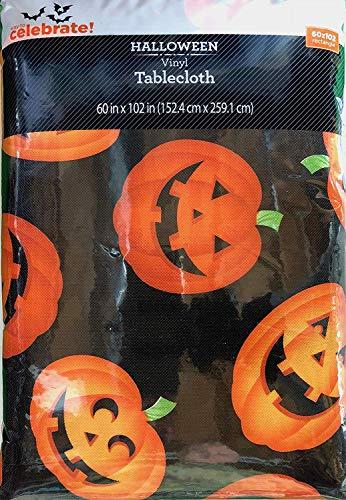Vinyl Tablecloth 60x102 Halloween Mass Jacks Theme ()