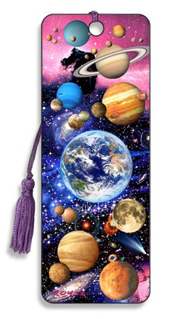 3D Bookmark - Outer Space - Cheatwell Games -