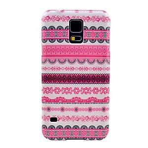 MOFY- Modelo rosado del tatuaje de la flor Alfombra cubierta del estuche r'gido para Samsung Galaxy i9600 S5