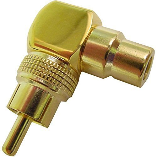 Calrad Electronics 35-480 Right Angle RCA Male to Female Adapter