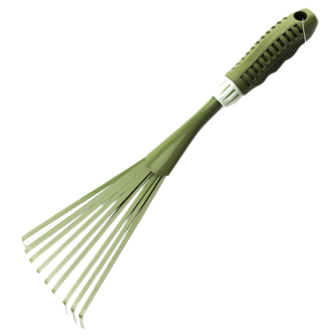 15 inch Mini Rake 9 Root Rake Shrub Rake Grip Hand Metal Leaf Rake Grass rake Garden Tools