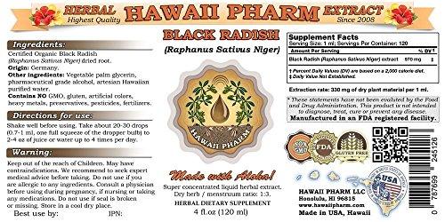 Black Radish Tincture, Black Radish (Raphanus Sativus Niger) Dried Root Liquid Extract 2x4 oz by HawaiiPharm (Image #1)