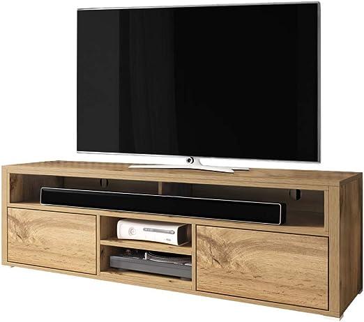 Selsey Wotan - Mueble bajo para televisor (Madera de Roble, 137 x 33 x 42,5 cm): Amazon.es: Hogar