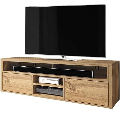 Festnight Mueble de TV con Amplio Espacio de Almacenamiento,Mesa Televisión,Madera Maciza de Acacia Lacada 120x35x40cm: Amazon.es: Juguetes y juegos