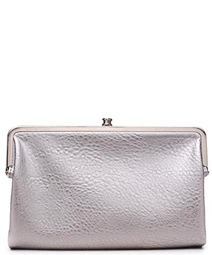 Clutch Leather Sandra Expressions Wallet Vegan Urban Silver xwvSqgn