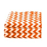bkb Daycare 6 Piece Chevron Portable Crib Sheets, Orange