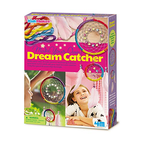 4M Make Your Own Glow-in-The-Dark Dream Catcher -