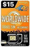 Worldwide   3 in 1 SIM Card   GSM SiM   Travel/International Plan - 30 Days Service