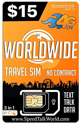 Worldwide | 3 in 1 SIM Card | GSM SiM | Travel/International Plan - 30 Days Service by Padfender