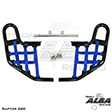 Yamaha Raptor 660 YFM 660R (2001-2005) Standard Nerf Bars Black w/Blue Net