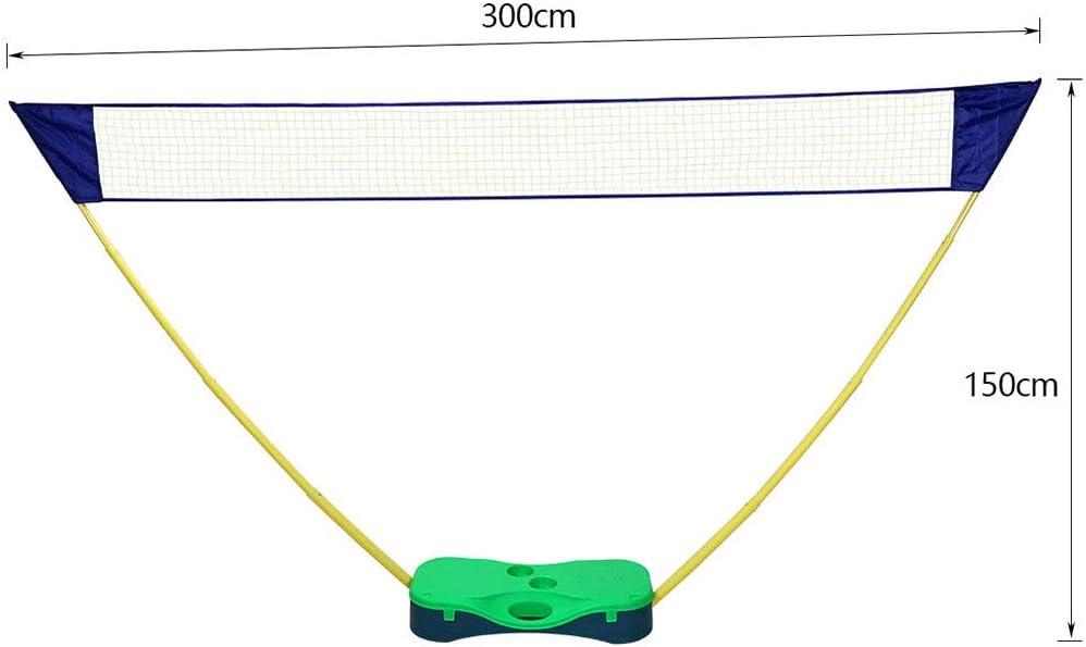YOUKE 5.1M Badminton Netz Tragbares Volleyball Netz mit Verstellbaren H/öhen faltbares Federballnetz Outdoor Trainingsnetz und Tennis