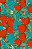 Notebook: Turquoise Strawberries Designer College