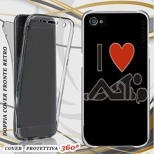 CUSTODIA COVER CASE I LOVE SEX PER IPHONE 4 FRONT BACK