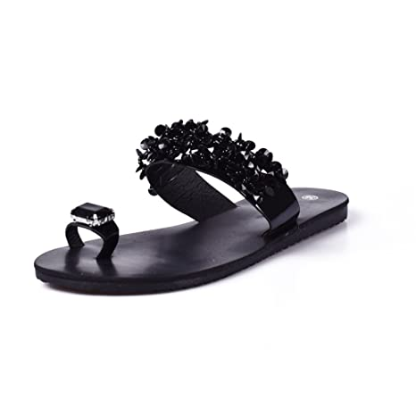 9eb389ddf SUKULIS Women Sandals Flip Flops Rhinestone Wedges Shoes Woman Slides  Crystal Beautiful Lady Casual Shoes Black