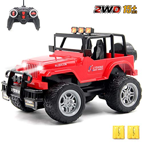 GMAXT Rc Cars 6062 Remote Control Car,1/18 Scale 15km/h,2.4Ghz 2WD Convertible Buggy,with Car Light and 2 Rechargeable Batteries,Give The Child Best The Gift