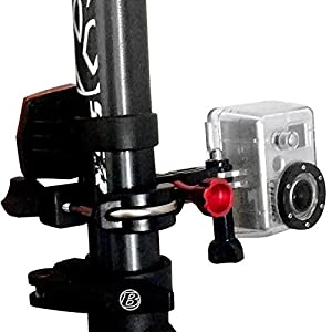 Motorcycle - Mountain Bike - Ski Pole - Premium Handlebar Seatpost Mount - with Stronger Metal Frame Support by FlightSpeed Camera Mounts